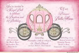 fairytale christening invitations baptism royal cinderella
