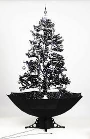 Black Christmas Tree Uk - smart buy self snowing christmas tree black 140cm amazon co uk