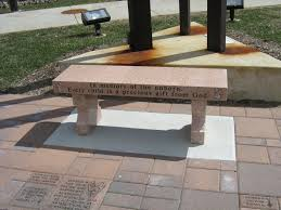 benches curved legs pedestals cremation benches custom