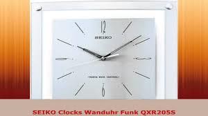 wanduhr funk seiko clocks wanduhr funk qxr205s youtube