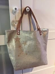 sac cabas en lin sac cabas en lin lamé or doublé tissu à poisanse en cuir très