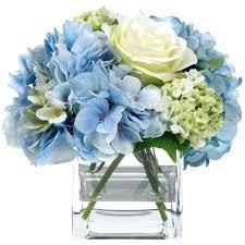 white flower centerpieces blue flower arrangement eatatjacknjills