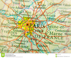 European Country Map by Geographic Map Of European Country France With Paris Capital Cit