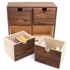 Office Desk Organizers by Office Desk Organizer Drawer Box Holder Storage Wood Home Jewelry