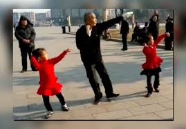 Asian Grandpa Meme - elderly chinese man s funky dance in sync with young girls shows age