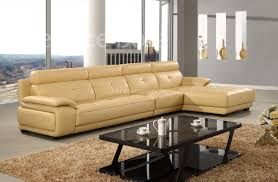 stunning beige leather couch with dark brown padded leather