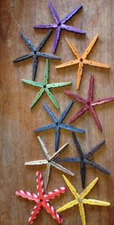 Halloween Clothespin Crafts by Idea For Faux Starfish Made With Dyed And Baked Clothespins By