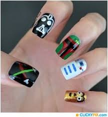 star wars nail art u2013 black nails unhas pinterest star wars