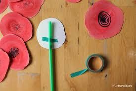 poppy wreath remembrance day craft for children nurturestore