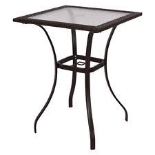 mainstays square outdoor glass top side table patio furniture