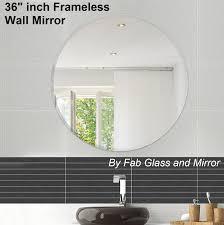 Circle Bathroom Mirror Frameless Round Wall Mirrors Bathroom Mirror Discounted Pr