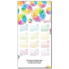 2017 colorful slices calendar card
