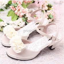 Flower Girls Dress Shoes - discount flower girls ivory bridal wedding sandals summer kids