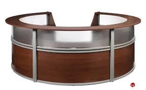 2 Person Reception Desk Innovative Circular Reception Desk Round Glass Top Reception Desk