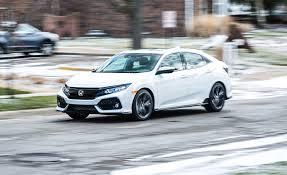 honda civic 2017 sedan 2017 honda civic hatchback cvt automatic review car and driver