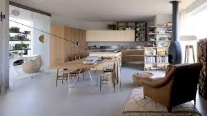 cuisine ouverte avec ilot table ilot table cuisine ide cuisine avec lot perspective mouvement