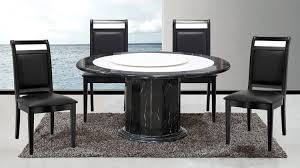 baveno black round marble table with lazy susan u0026 chairs