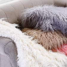 Pottery Barn Faux Fur Pillow Amazon Com Best Home Fashion Faux Fur Throw Lounge Blanket