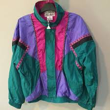 1980s colors vintage 80s jacket colorful nylon from rocket shop vintage 80s