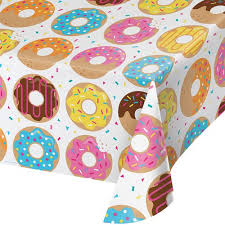 donut wrapping paper greenware eco tablecloths and runners donut plastic reusuable