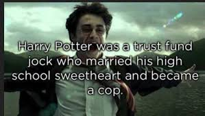 Trust Meme - harry potter was a trust fund jock who married his high school
