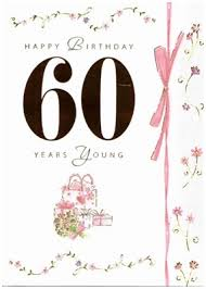 60 year birthday card cym cards 60th birthday card published by paper house
