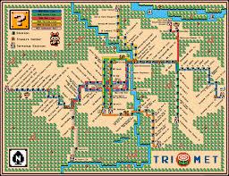 Map Portland Oregon by Portland U0027s Max Lrt Map U2013 Super Mario 3 Style U2013 Dave U0027s Geeky Ideas