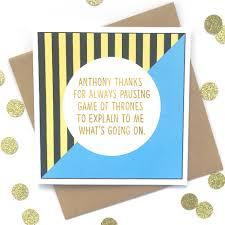 of thrones birthday card personalised husband birthday card of thrones by bettie