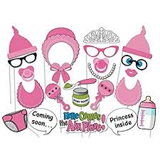 baby shower for a girl it s a girl baby shower party photo booth props kits