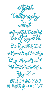 stylish calligraphy embroidery font