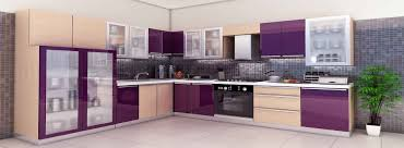 Modular Kitchen Designs With Price by Wonderful Kitchen Design Idea With Purple And Cream Cabinet 7365