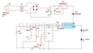automatic changeover switch circuit using 555 timer the simple