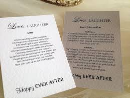 wedding gift list poems guest information cards and wedding gift wish cardss gift poem