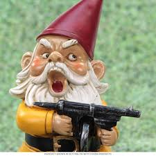 Lawn Gnome by Angry Little Garden Gnome Lawn Statue Funny Outdoor Decor