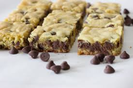 chasing saturdays chocolate chip cookie bars