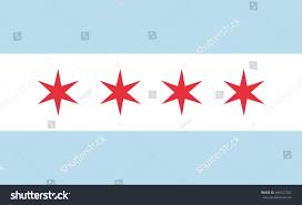 Chicagos Flag Chicago Flag Official Right Proportions Red Stock Vector 444227332