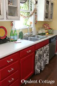 i like the red kitchen cabinets but i don u0027t get the chipping