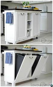 kitchen island with garbage bin diy cabinet kitchen island with tilt out trash can smart ways to