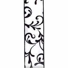black and white wired ribbon ribbon express wired edge damask ribbon lion ribbon