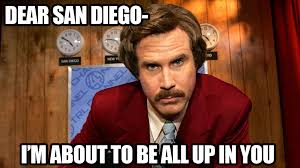 San Diego Meme - moto lady