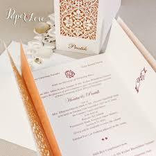 Cover Invitation Card Luxury Gatefold Asian Wedding Day Invitation Personalised Laser