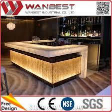 round table salad bar bar counter furniture acrylic solid surface stone modern design