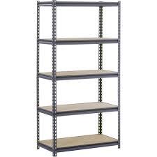 Heavy Duty Steel Cabinets Edsal Urm185 5 Shelf Heavy Duty Steel Shelving Sears Outlet