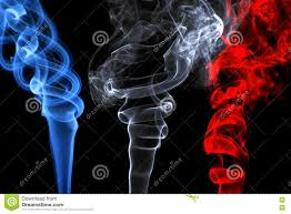 French Flag Background Smoke Effects That Represent The French Flag Stock Image Image
