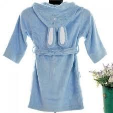 robe de chambre garcon robe de chambre enfant fantaisie lapin bleue à capuche taille