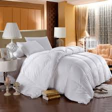 Hotel Quality Comforter 500 Thread Count White Down Comforter Baffle Box Winter Weight By
