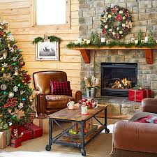 deck your hearth in mini trees poinsettias and rustic candles