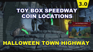 toy box speedway halloween town coin locations youtube