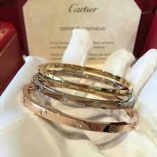 stainless steel cartier bracelet images Full set bag box certificate thin cartier bracelet 5mm all colors jpg