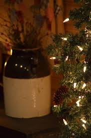 primitive christmas tree and crock primitive home decor